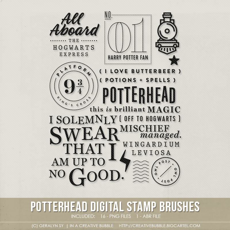 Image of Potterhead Stamp Brushes (Digital)
