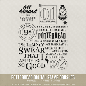Image of Potterhead Stamp Brushes (Digital)