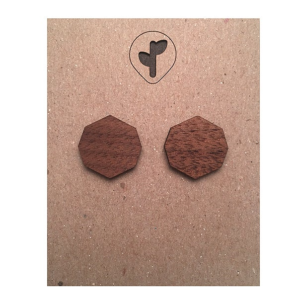 Image of mini stud / octágono_A / walnut