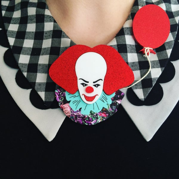 Image of Clown Brooch - LAST RUN OF THIS COLOURWAY