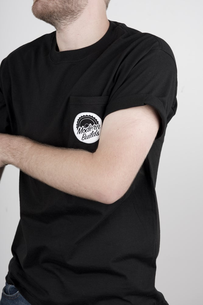 Image of Black Pocket Tee