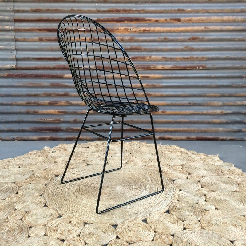 Image of Vintage Powder coated Gloss Black chairs