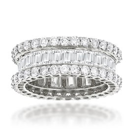 Image of Sunset Boulevard Sterling Silver Eternity Band