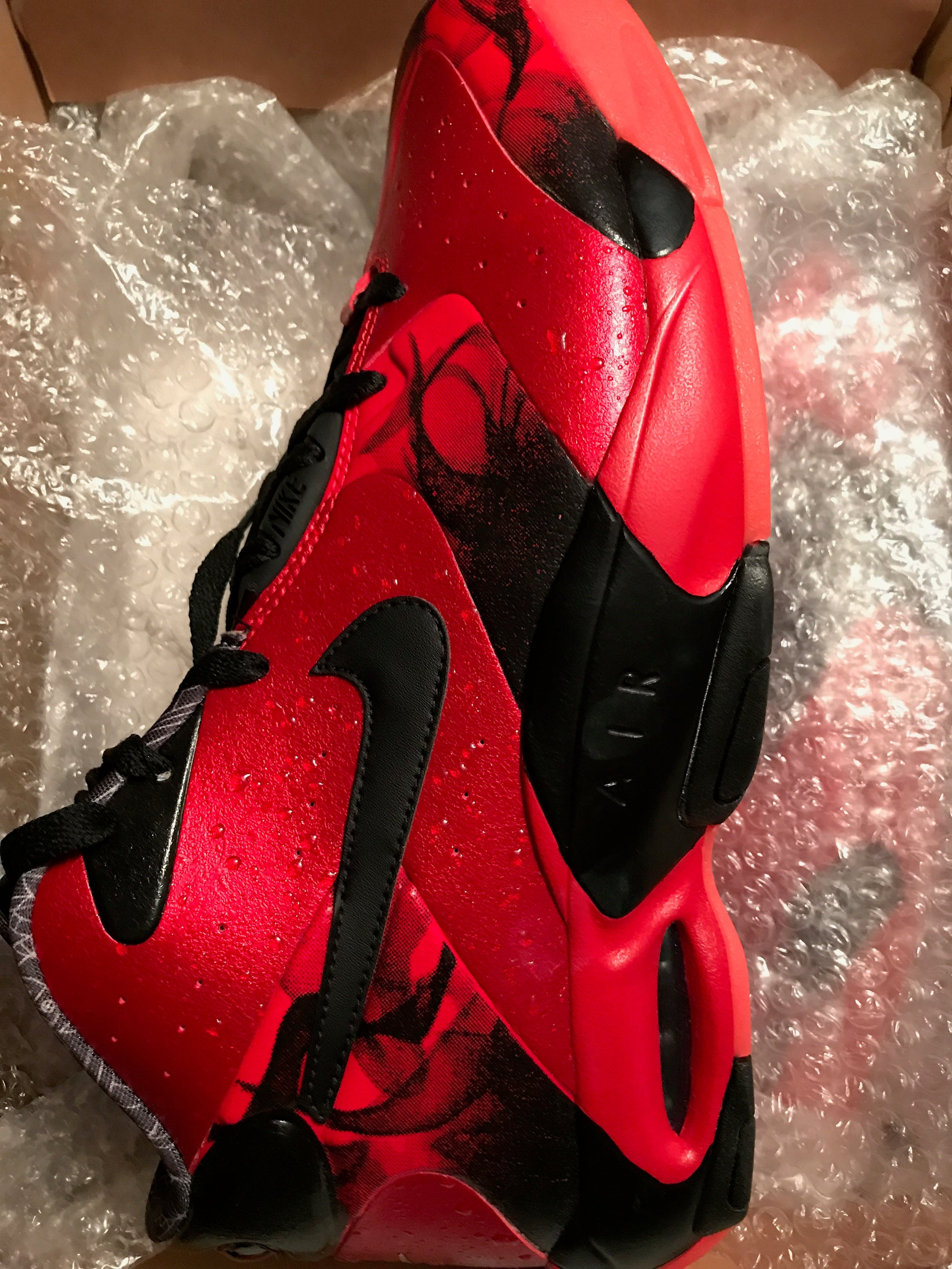 Image of NIKE AIR UP '14 QS 652124 600 MEN'S SZ 13 UNIVERSITY RED Shoes - New