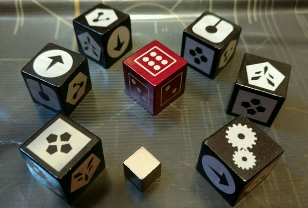 Image of Deep Space D6 Anodized Aluminum Dice Set