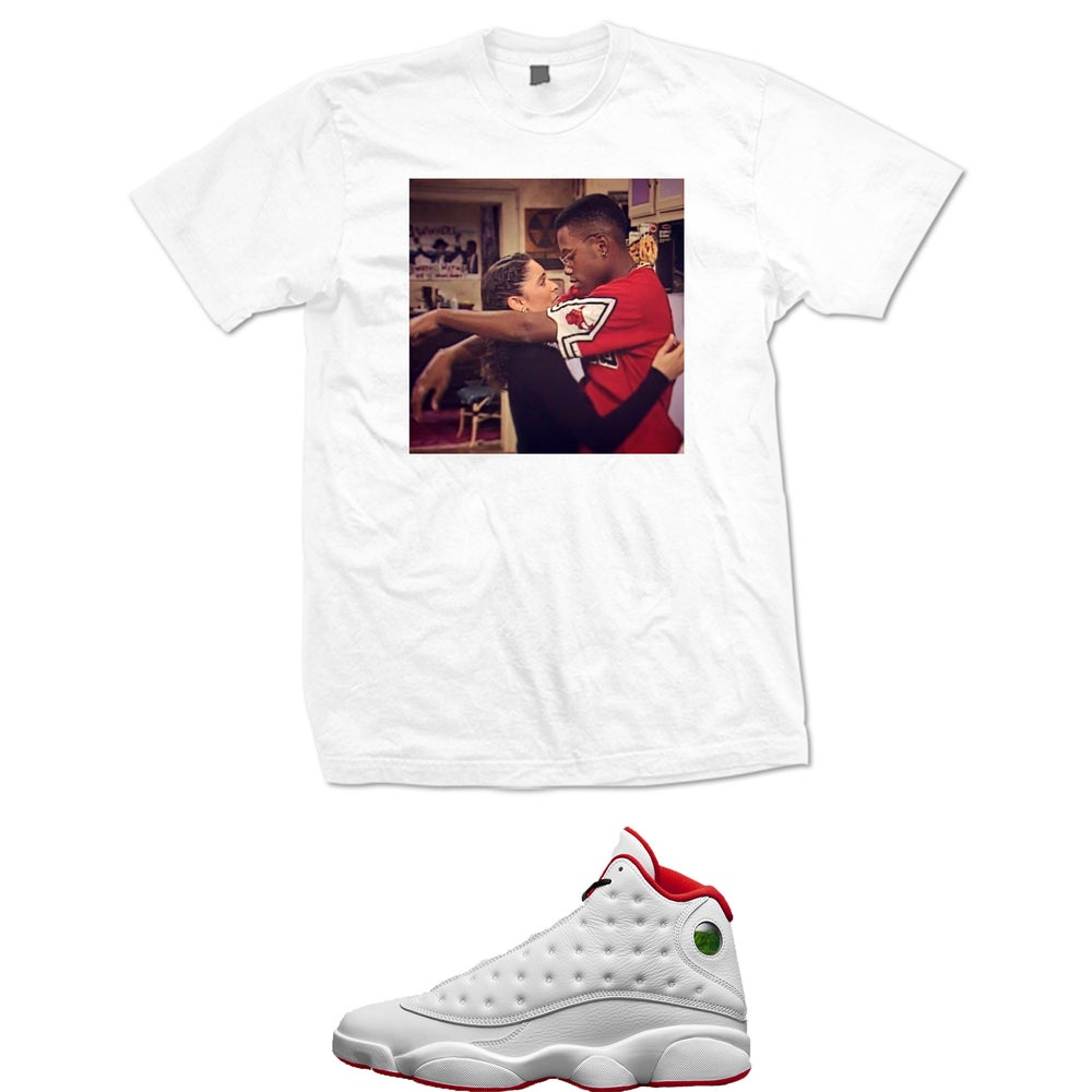 Image of A DIFFERENT WORLD DWAYNE AND WHITLEY RETRO T SHIRT - WHITE