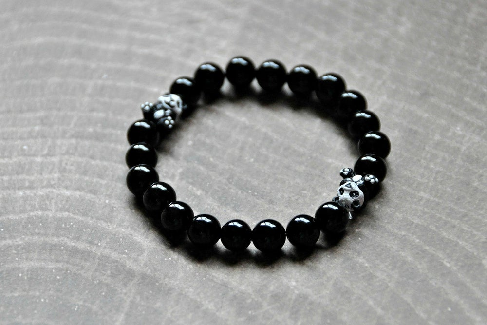 Image of Obsdian Panda Bracelet