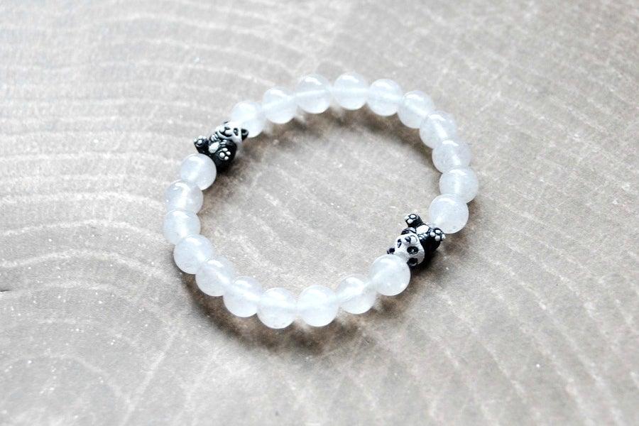Image of White Jade Panda Bracelet