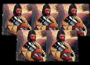 Image of SK8RATS Jesus VX1000 Sticker Pack 5
