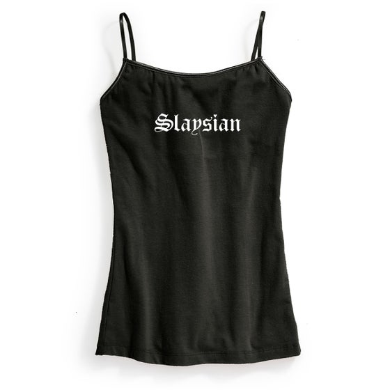 "Image of "" Slaysian"" Black Cami Tank"