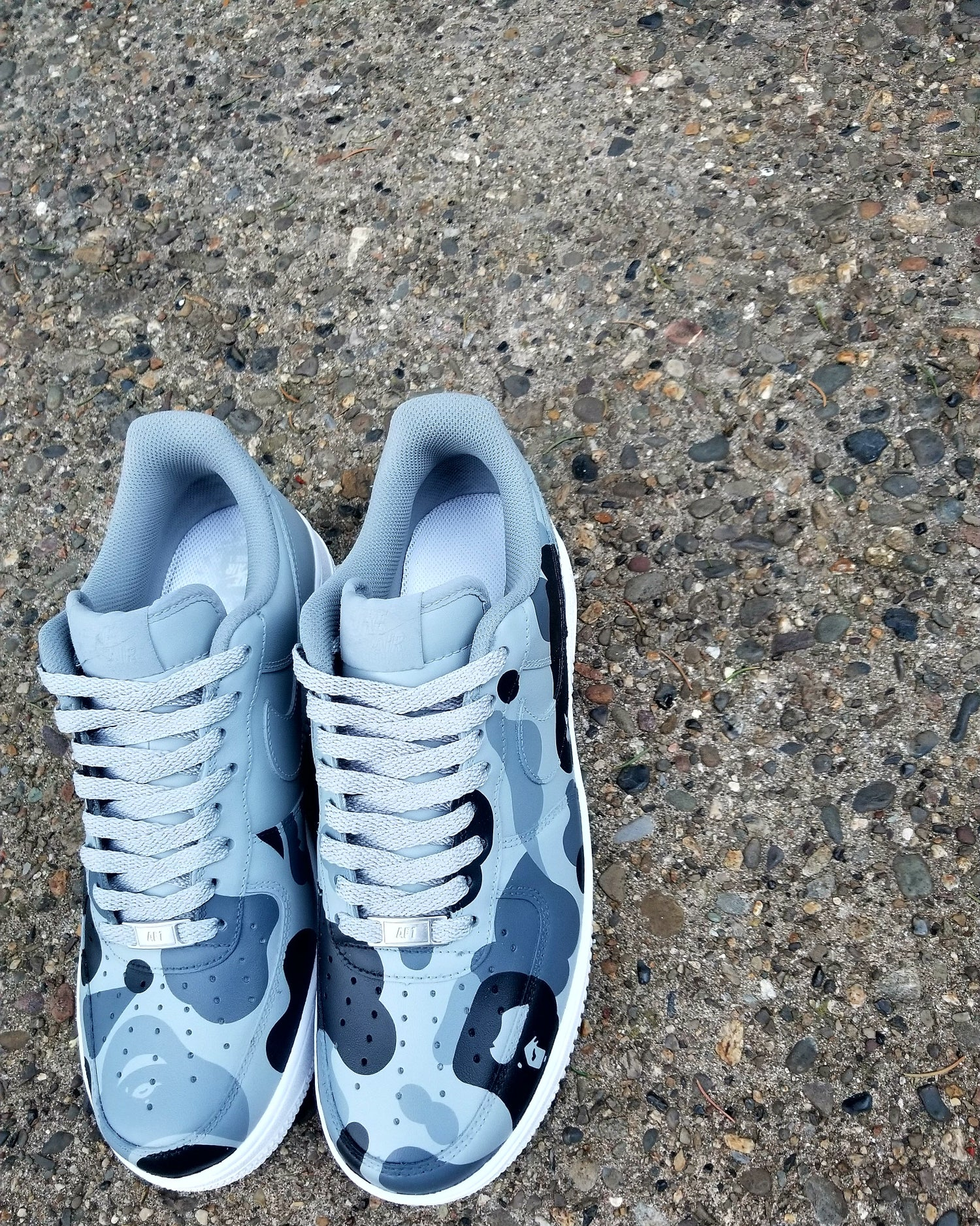 "Image of AF1 ""Shades of Gray"" Lows"