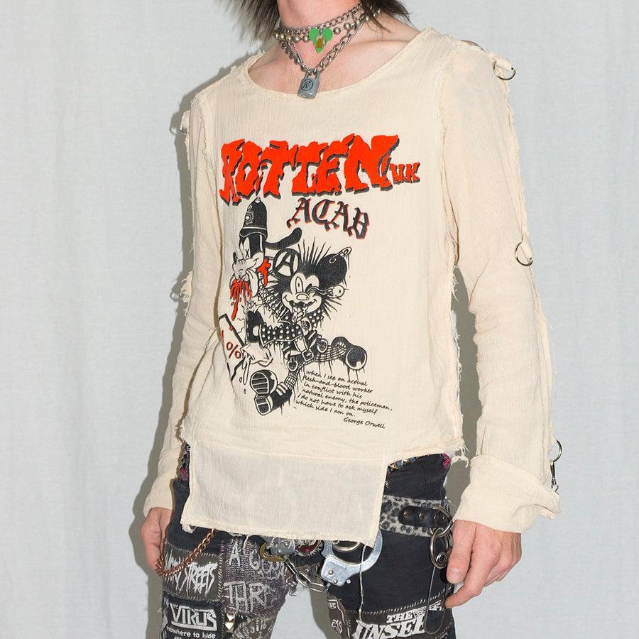 Image of ROTTEN UK A.C.A.B. gauze bondage shirt