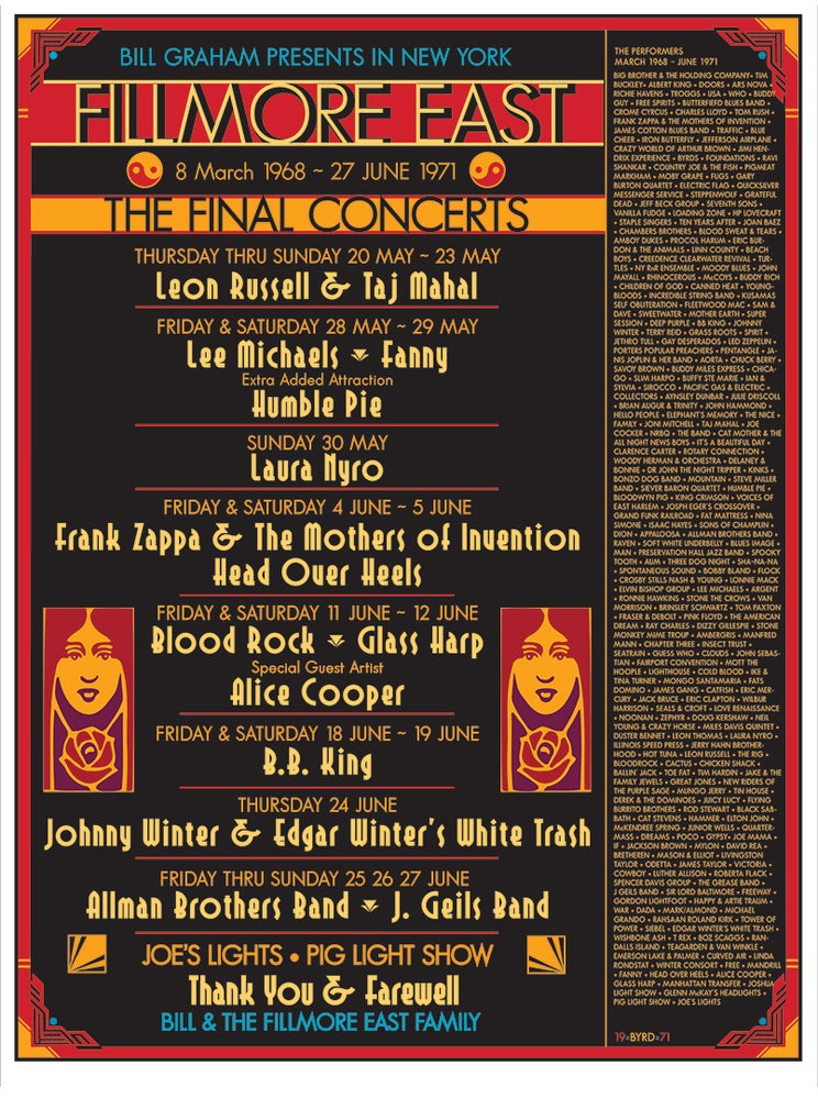 Image of The Final Shows FILLMORE EAST June 1971