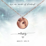 Image of Aries Constellation Necklace- 14kt Rose Gold Fill