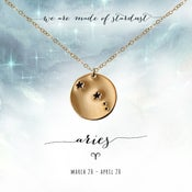 Image of Aries Constellation Necklace- 14kt Yellow Gold Fill