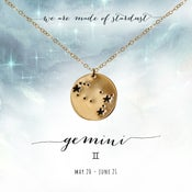 Image of Gemini Constellation Necklace- 14kt Yellow Gold Fill