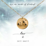 Image of Leo Constellation Necklace- 14kt Yellow Gold Fill
