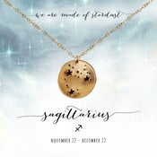 Image of Sagittarius Constellation Necklace- 14kt Yellow Gold Fill