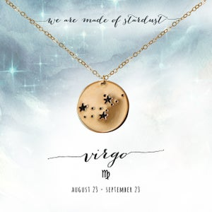 Image of Virgo Constellation Necklace- 14kt Yellow Gold Fill