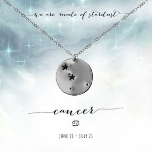 Image of Cancer Constellation Necklace - Sterling Silver