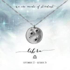 Image of Libra Constellation Necklace - Sterling Silver