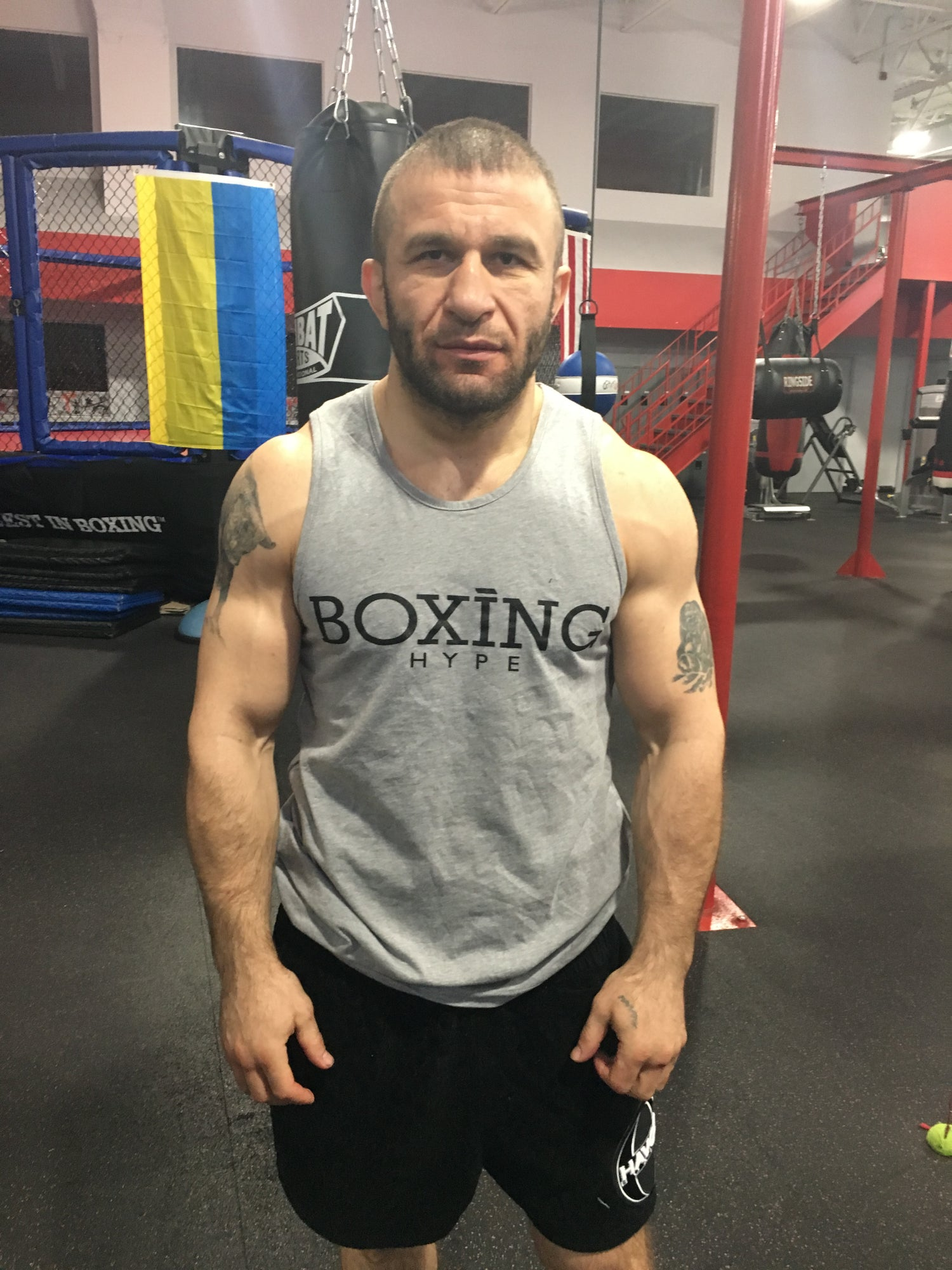Image of Mens Heather Gray BoxingHype Tanks