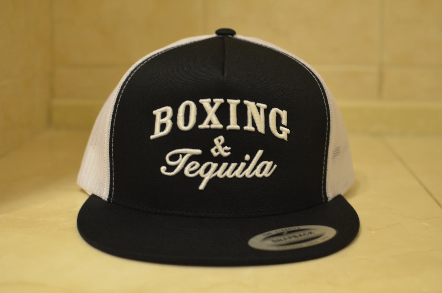 Image of Black on Gold Classic BoxingHype Leather SnapBacks
