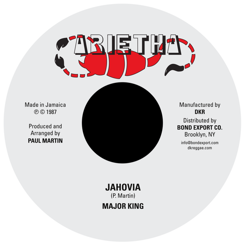 "Image of Major King - Jahovia 7"" (Arietha)"