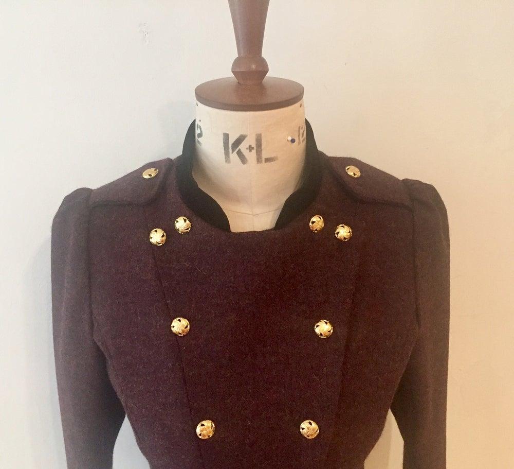 Image of Velvet and tweed fencing jacket