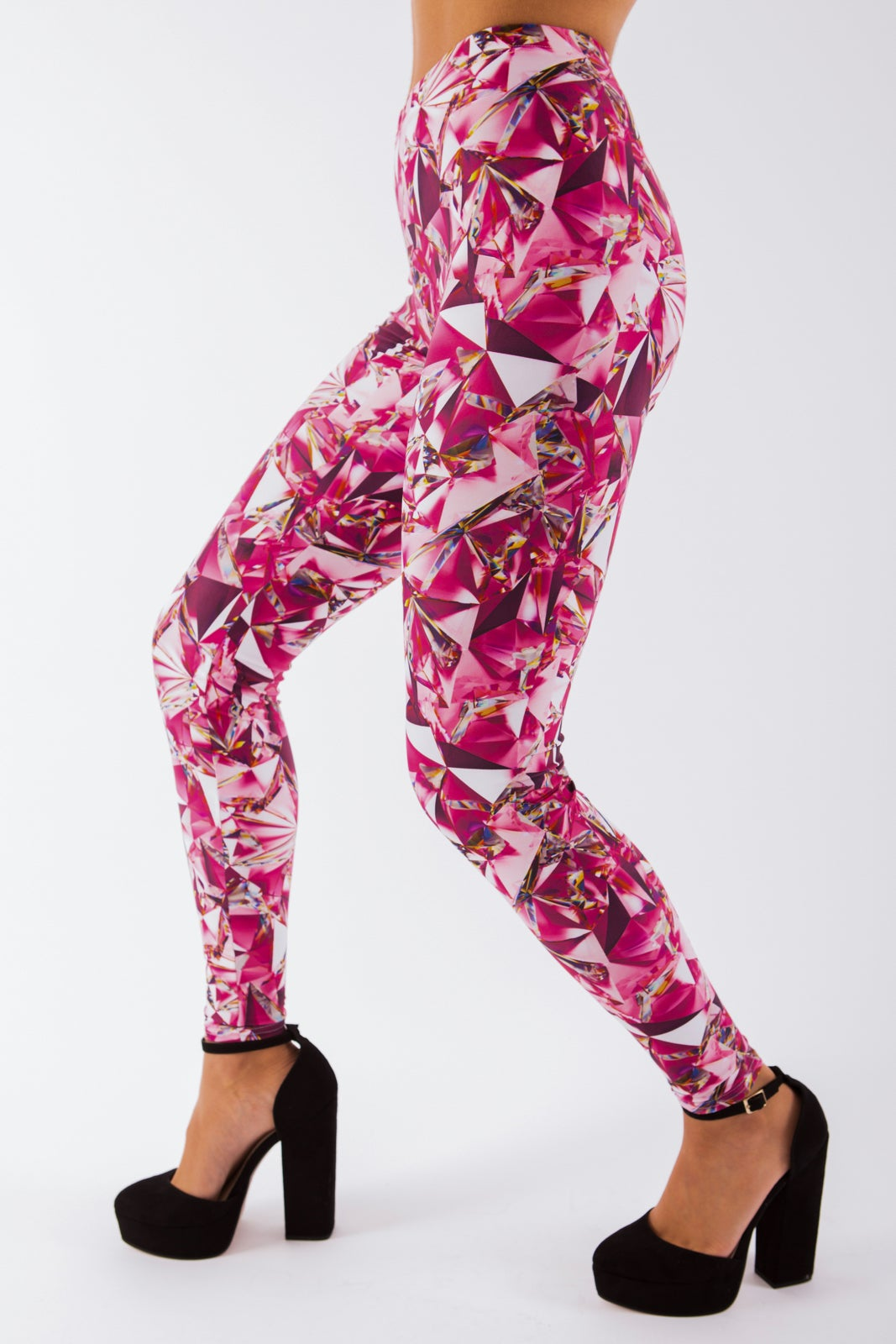 Image of Pink Shattered Glass Leggings