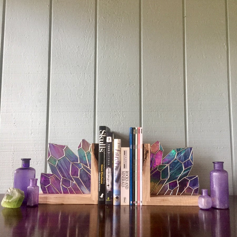 Image of Amethyst Bookend Set