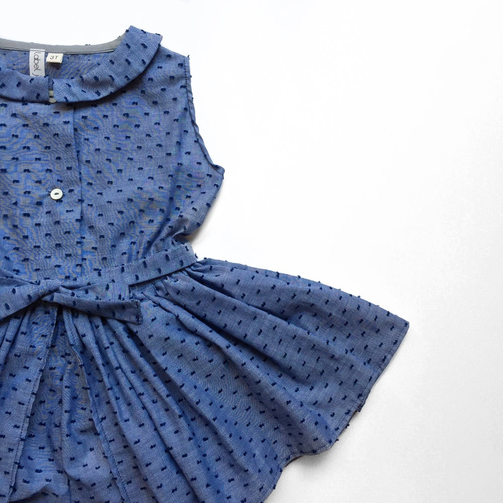 Image of Flocked Chambray Tennis Dress