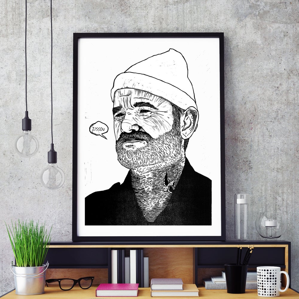 Image of 'Team Zissou' A2 Screenprint
