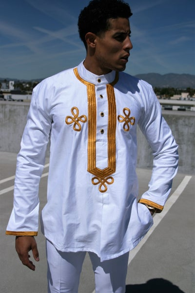 Image of The sikani shirt - white and gold