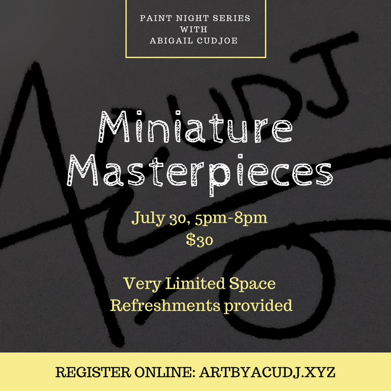 Image of Paint Night Series 1: Miniature Masterpieces