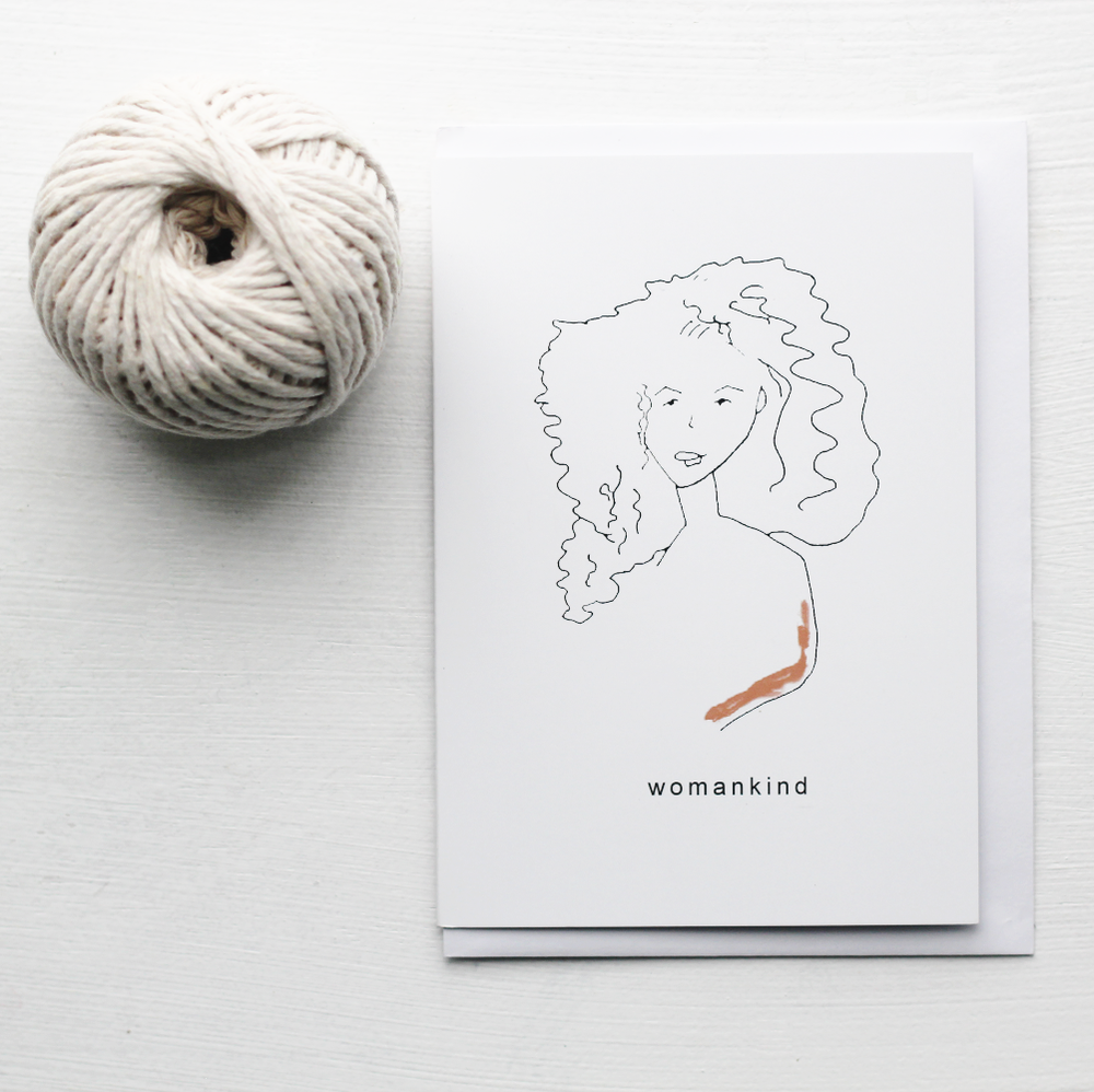 Image of Womankind - Smooth Silk Greeting Card