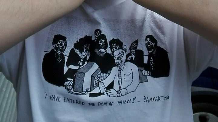 "Image of Sammartino ""I Have Entered the Den of Thieves"" T-shirt"