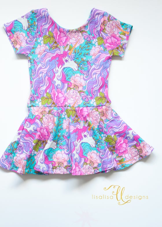 Image of Blooming Unicorn playsuit
