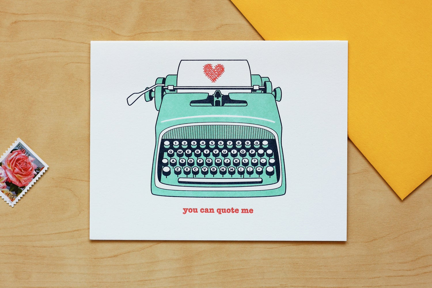 "Image of TYPEWRITER ""YOU CAN QUOTE ME"" Card"