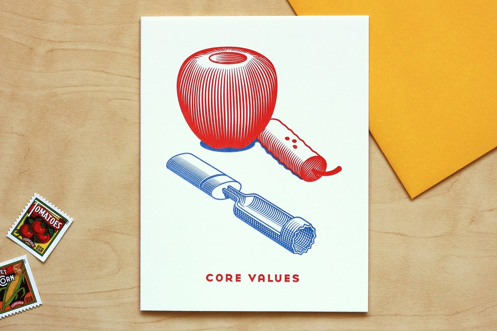 "Image of APPLE ""CORE VALUES"" Card"