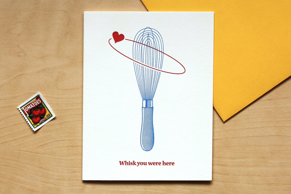 "Image of ""WHISK YOU WERE HERE"" Card"