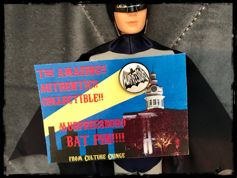 "Image of Murfreesboro ""bat sign"" pin!"