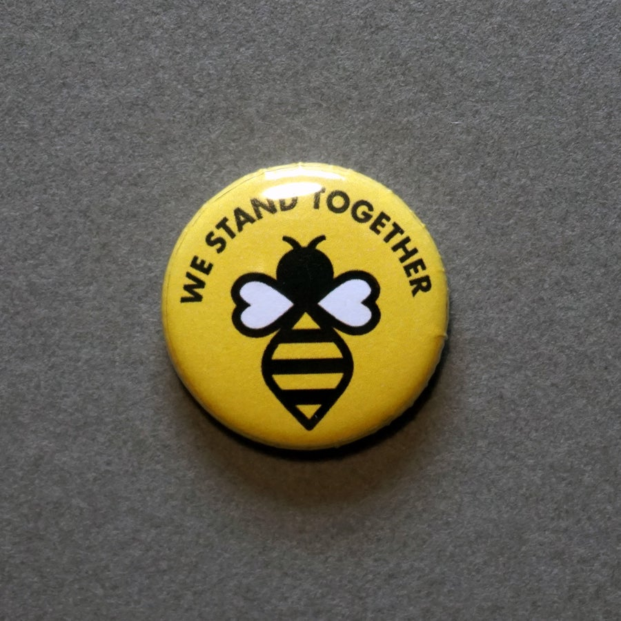 Image of Manchester #WeStandTogether Bee Button Badge