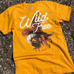 """Image of The """"Wild-and-Free"""" Eagle Tee in Gold"""
