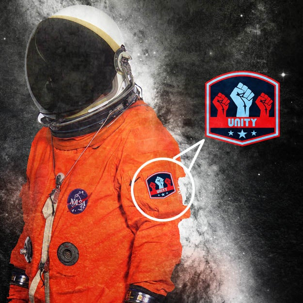 """Image of """"Unity"""" space badge"""