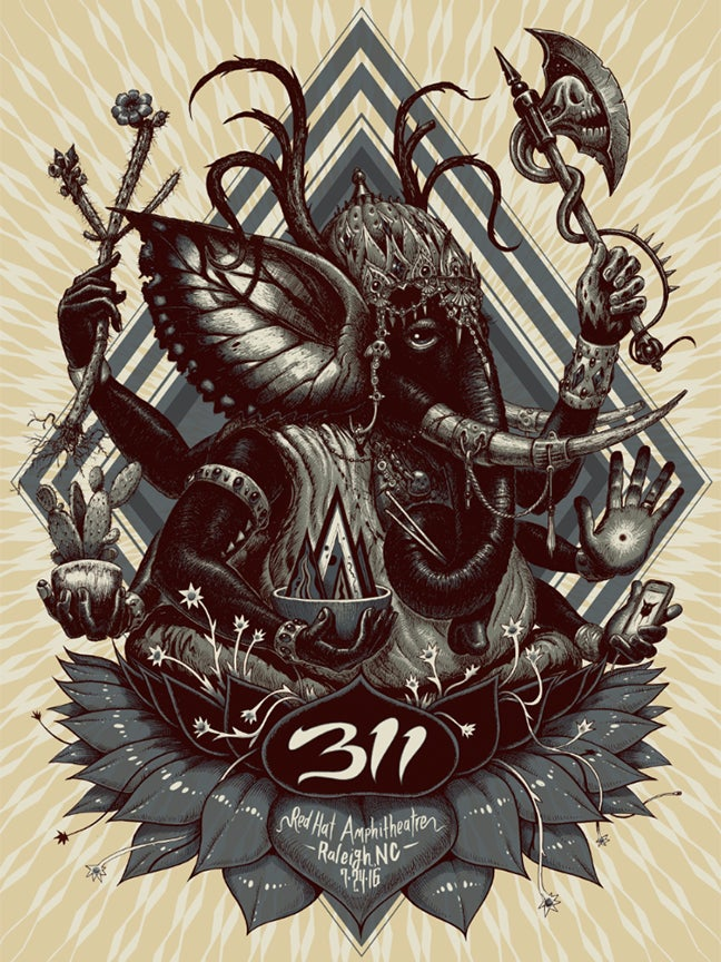 Image of 311 Raleigh Regular Edition Poster