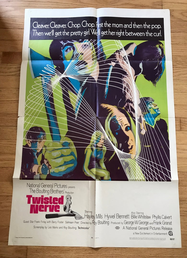 Image of 1968 TWISTED NERVE Original U.S. One Sheet Movie Poster