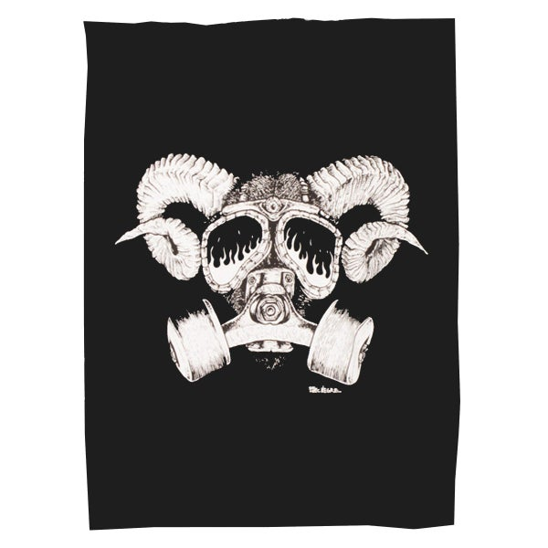 Image of Goat Skull Gas Mask - Confusion back patch