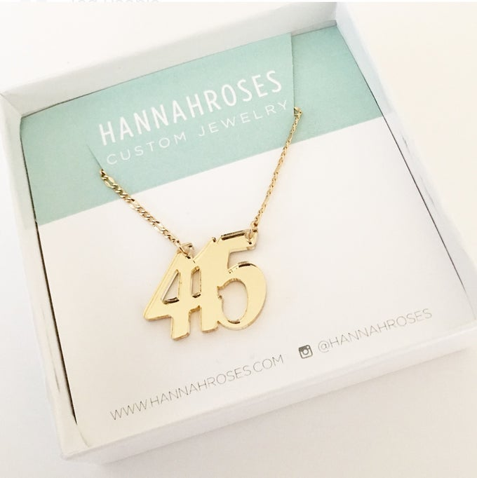 Image of Custom GOLD AREA CODE Acrylic Necklace