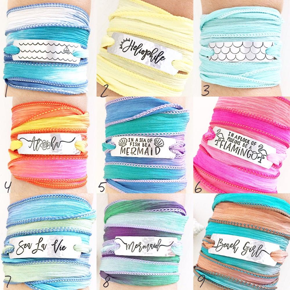 Image of Silk Wrap Bracelets